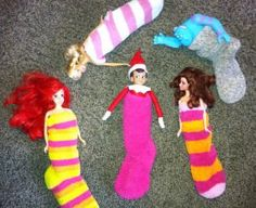 Elf on the Shelf sleepover