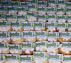 Mini logo cupcakes for Pods swim school.www.facebook.com/carinaedolce  www.Carinaedolce.com #carinaedolce Dairy, Cheese, Food, Meal, Essen, Hoods, Meals, Eten