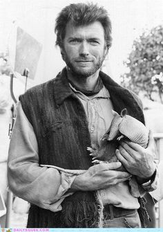 Clint and an armadillo