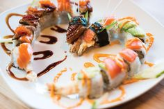 Kinjo's kiss dragon roll is a showstopper #sushi #dragons #japanese