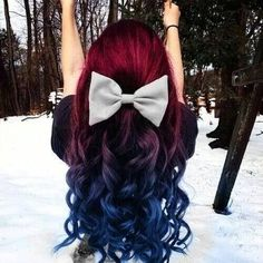 Red and blue hair