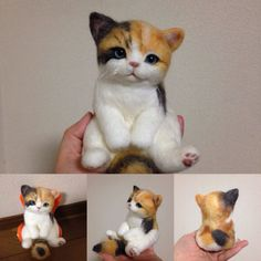 Needle felted cat by Maropapurna on Yahoo Auctions Japan