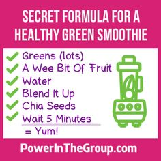 Healthy Green Smoothie For Prediabetes