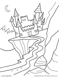 Dragon Coloring Page Illustrated by Tim van de Vall