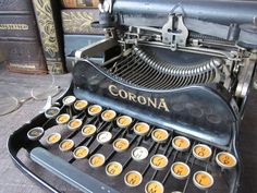 old typewriter: nostalgia for the mechanics of writing to be more apparent
