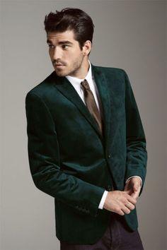 Men-FashionDesigner-Wedding-Groom-Tuxedo-Dinner-Velvet-Casual-Coat-Jacket-Blazer