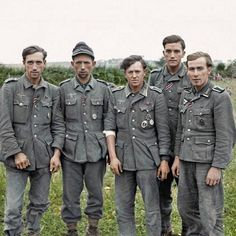 A group of veteran German prisoners captured at Maltot, south west of Caen, Normandy. 23rd of July 1944.