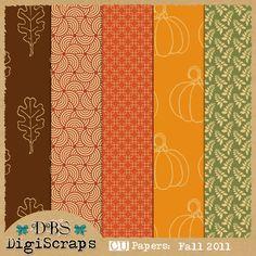 CU   Free Fall DigiScrap Paper Pack by DBS DigiScraps