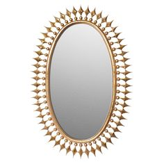Emporium Home Wellington Gold Leaf Mirror @Zinc_Door