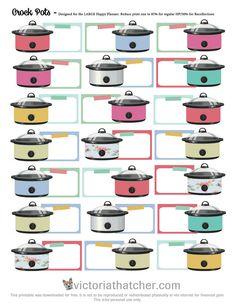 Free Crockpots Printable Planner Stickers | Victoria Thatcher