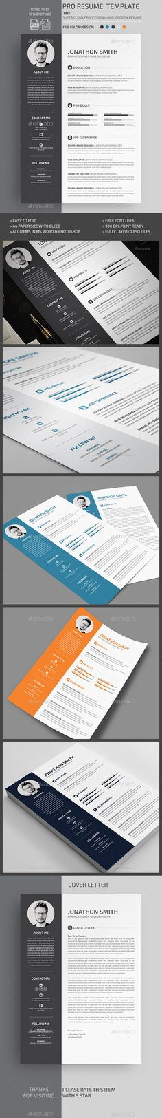 Resume Resume words, Cv template and Professional resume template - resume template psd