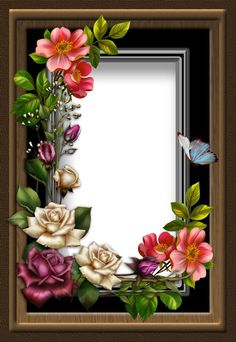 by collect-and-creat on DeviantArt Birthday Photo Frame, Happy Birthday Frame, Birthday Frames, Frame Border Design, Photo Frame Design, Flower Frame, Flower Art, Cadre Design, Picture Borders
