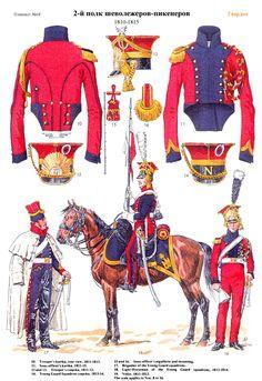 NAP- France: French Chevau-Legers Lancier 1810-1815 (pl 68), by Lucien Rousselot.