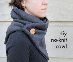 DIY No-Knit Cowl - keep cozy warm this fall!