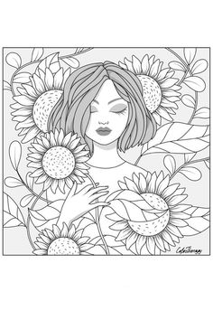 Space Coloring Pages, Coloring Pages For Grown Ups, Monster Coloring Pages, Summer Coloring Pages, Coloring Book Art, Cute Coloring Pages, Printable Coloring Pages, Adult Coloring Pages, Sunflower Coloring Pages