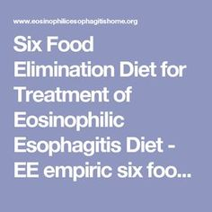 Six Food Elimination Diet for Treatment of Eosinophilic Esophagitis Diet - EE empiric six food elimination diet - Dietary avoidance of…