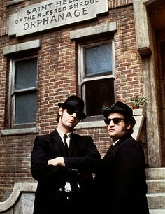 "John Belushi and Dan Aykroyd - ""The Blues Brothers"" - Directed by John Landis - 1980 Blues Brothers 1980, Movie Stars, Movie Tv, John Landis, Cinema Tv, Saturday Night Live, Film Serie, Recital, Look At You"