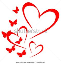 Find Butterfly of red hearts. Heart Wallpaper, Love Wallpaper, Art Drawings For Kids, Easy Drawings, Valentine Wreath, Valentines, Infinity Tattoos, Silhouette Clip Art, Heart Tattoo Designs