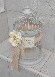 Extra Large Wedding Birdcage Card Holder / Wedding by ThoseDays