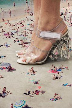 Prada ~ Chandelier Shoes (Spring 2010 Campaign) via: Les Demoiselles de Diamantes. #fashion #photography #shoes #heels