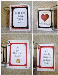 52 things i love about you card artsy fartsy pinterest 52