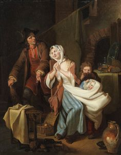 Disturbed family life in the nursery by Johann Eleazar Zeissig (1737–1806)_