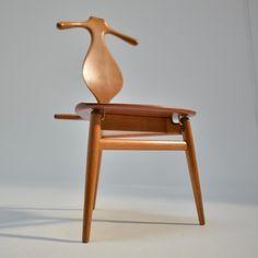 This is a rare original Hans Wegner for Johannes Hansen 'Valet' chair in excellent condition, circa Hans Wegner, Mid Century House, Carpenter, Denmark, Home Furnishings, Purpose, The Originals, Bathroom, Chair