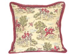Antique tapestry Stag Hunt throw pillow cover 20x20  by SABDECO