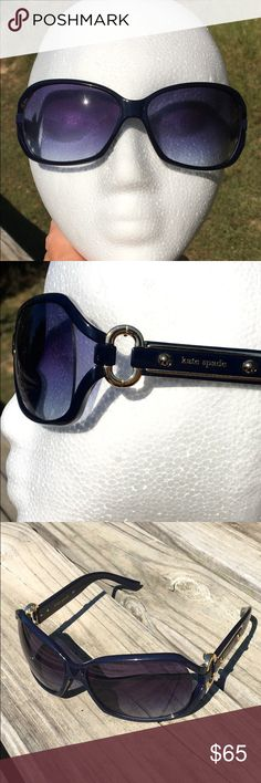 1a24e44947 KATE SPADE EVANS SUNGLASSES NAVY BLUE  amp  GOLD METAL Beautiful pair of  authentic KATE SPADE