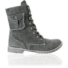 Roxy Black Wash Canvas Ponderosa Boots