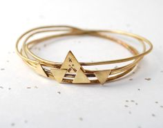 triangle bangle set by makepienotwar on Etsy, $59.00