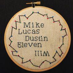Stranger Things Cross Stitch.