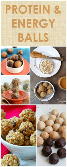 Healthy Bites: 30 Protein and Energy Ball Recipes #protein #healthysnacks
