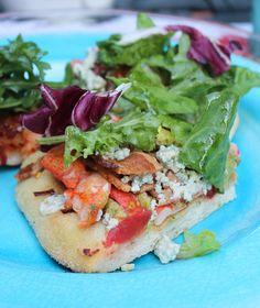 Lobster Cobb Salad Pizza #lobster #cobbsalad #pizza