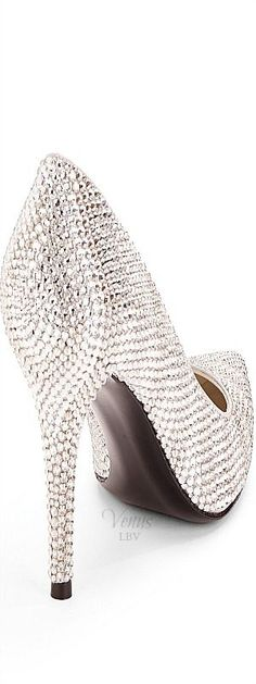 Stuart Weitzman ♥✤ Ventipave Swarovski Crystal Evening Pumps