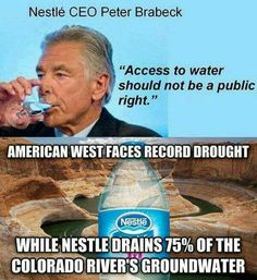 Boycott Nestle. Also owns Poland Springs and accused of fraud.