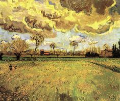 Vincent can Gogh:  Landscape Under a Stormy Sky