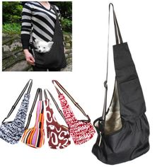 3-Size-SML-Black-Oxford-Cloth-Sling-Pet-Dog-Cat-Carrier-Tote-Single-Shoulder-Bag