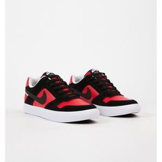 Nike SB Delta Force Vulc Black Black University Red White b3496f32e