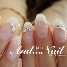 Don't forget about your nails! Bridal Nails Designs, Nail Art Designs, Glam Nails, Beauty Nails, Wedding Day Nails, Bride Nails, Short Nails Art, Crystal Nails, Beautiful Nail Designs