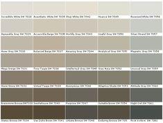 Neutral: Sherwin Williams colors I love