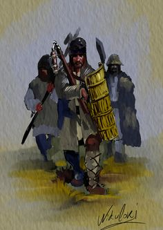 Moldavian warrior, Big Army, Stefan the Great. by Nikuloki (Sergiu Ninicu) study Ostasi moldoveni a armatei lui Stefan cel Mare a 15 veac. Vlad The Impaler, Medieval Times, Moldova, Medieval Clothing, Albania, Military History, Bulgaria, Middle Ages, Folklore