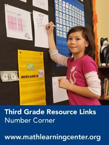 Tons of links to resources, games and activities to use with students! Number Corner First Edition Resource & Tech Links – Grade 3