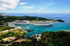 Ships docked at Mahogany Bay terminal in Roatan.