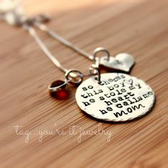 This boy he stole my heart he calls me mom necklace for mom with a son and boys, Mommy Necklace, Mom Necklace with Child's initial