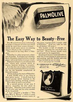 1910 Ad B J Johnson Soap Co. Palmolive Bath Products - ORIGINAL ADVERTISING GH2