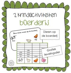 Kringactiviteit dieren op de boerderij + grafiek lievelingsdieren | Thema BOERDERIJ Role Play Areas, Farm Kids, Kindergarten, Bible Crafts, 3rd Birthday, Activities For Kids, Improve Yourself, Spring, Learning