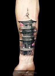 Resultado de imagem para pagoda tattoos #tattoosmensarms
