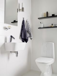 IDO Seven D -sarjasta löytyy pesualtaita myös pieniin tiloihin. Toilet, Bathroom, Washroom, Flush Toilet, Full Bath, Toilets, Bath, Bathrooms, Toilet Room