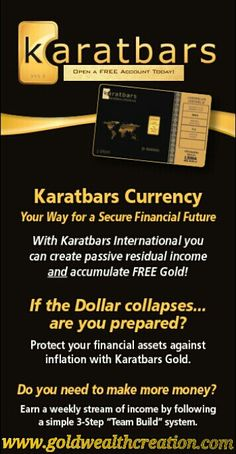 I have turned my debt into Credit with Karatbars Gold. Securing my future not only financially but stress free with a simple One a Month Club. I would love for you to take a look a the video and see how this will benefit you and your wants in life. Dollar Collapse, Financial Asset, Online Business Opportunities, Investment Portfolio, Helping Others, Online Marketing, How To Make Money, Opportunity, Social Media
